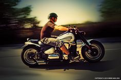 Motorcycle Man in Motion on The Road by Dimitar Hristov (54ka)