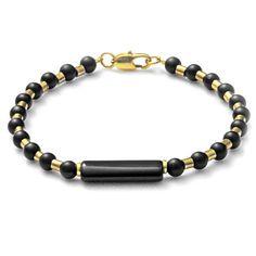 Elegantes schwarzes Armband mit Onyx von CombaDesigns auf Etsy