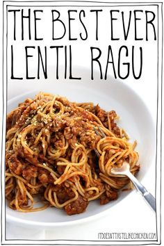 This easy vegan pasta takes just 15 minutes to make! Vegetarian ragu pasta is hearty, rich, slightly smoky, and makes for the perfect weeknight meal. #ForVegetarians