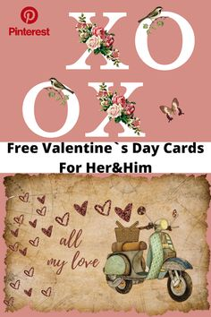 Free Valentine`s Day Cards For Her & Him   Home Chic Club: Free Valentine`s Day Cards For Her & Him Printable Cards, Printable Planner, Free Printables, Free Valentines Day Cards, Free Calendar, She & Him, Free Planner, Fitness Planner, Love Is Free