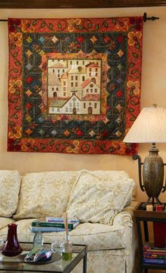 Quiet Village quilt by Rebecca LoGiudice. May/June 2009 | McCall's Quilting