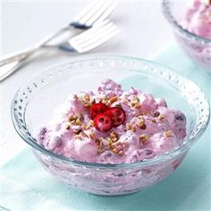 Cranberry Ambrosia Salad Recipe -My paternal grandmother used to make this for Christmas dinner. I'm not sure how many batches she made, as there were nearly fifty aunts, uncles and cousins in our family. I still make the recipe in memory of her, and it's still as good as I remember.—Janet Hurley, Shell Rock, Iowa