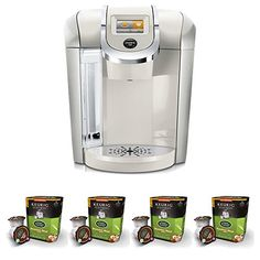 Keurig K475 Coffee Maker Sandy Pearl  w Breakfast Blend Coffee KCups 32 Pack *** Check out the image by visiting the link.Note:It is affiliate link to Amazon.