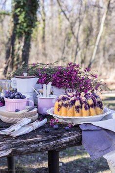 Bundt cake de limón y arándanos | Con aroma de vainilla - Recetas de repostería