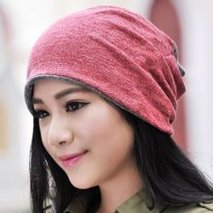 Chic Two Color Matching Double-Deck Knitted Beanie For Women