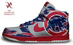 Chicago Cubs Custom Nike Dunks by tsilvetti.deviantart.com on @DeviantArt