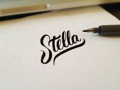 Stella Lettering by Matt Vergotis