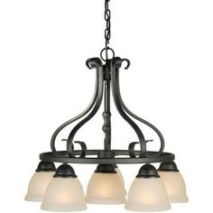 Talista 6-Light Bordeaux Chandelier with Rustic Umber Glass-CLI-FRT2217-06-64 - The Home Depot