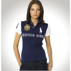 Ralph Lauren Women Darkblue White Big Pony Polo http://nikeshoesoutlet.blogspot.
