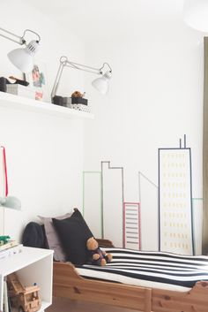 kids room | washi tape wall deco