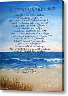 Buy a 16.00 x 20.00 stretched canvas print of Shelia Kempf's Footprints in the Sand for $95.00.  Only 9 prints remaining.  Offer expires on 11/02/2015.