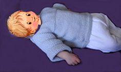 CHAPITRE 14 - Tricoter une brassière niveau débutante, en un seul morceau. Modèle gratuit. - L'atelier tricot de Mam' Yveline. Bebe Baby, Point, Baby Knitting, Miniatures, Scrappy Quilts, Sacks, Knitted Doll Patterns, Layette Pattern, Baby Knits