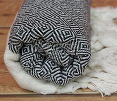 100 % Coton Extra haute qualité Hamam serviette plage serviette hammam peshtemal Black DIAMOND serviette en Turc
