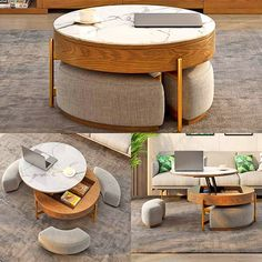The liftable coffee table