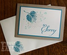All Things Stampy: Masculine sympathy card