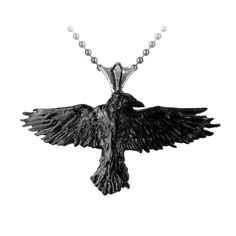 Purple Leopard Boutique - Black Raven Pendant and Necklace Alchemy Gothic Pewter Jewelry P193, $44.00 (http://www.purpleleopardboutique.com/black-raven-pendant-and-necklace-alchemy-gothic-pewter-jewelry-p193/)