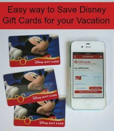 Easy Way to Save Disney Gift Cards for your Vacation- All things Target- good idea!