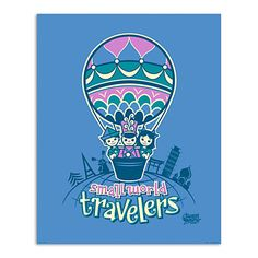 March Magic Poster - Small World Travelers - Disneyland - Limited Release @erik_naville LOVE!