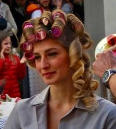 As the rollers were removed one by one.... John's curled tresses were slowly revealed his inner girl brought to the fore.  He ached with excitement at what was still to come,  loving his new life as joanne!