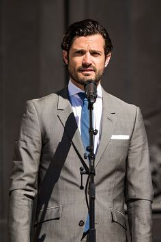 Prince Carl Phillip participates in a ceremony celebrating Sweden's national day at the Royal Palace on June 6, 2015 in Stockholm, Sweden.