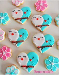 Valentine's Day Sugar Cookies, Fancy Cookies, Iced Cookies, Cute Cookies, Yummy Cookies, Cupcake Cookies, Royal Icing Cookies, Cupcakes, Valentines Day Cakes
