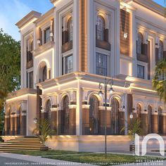 Home Decoration Online Stores Classic House Exterior, Classic House Design, Dream House Exterior, Modern House Design, Villa Design, Facade Design, Exterior Design, House Outside Design, House Front Design