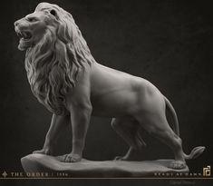 The Order: 1886 - Lion Statue, Daniel Peteuil on ArtStation at https://www.artstation.com/artwork/the-order-1886-lion-statue