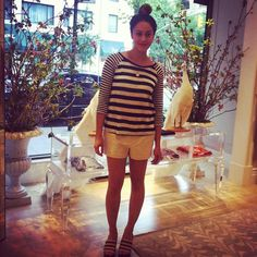 Sneak peek at upcoming Sunday Girl Lauren Levinger of @thefoodlifenyc sporting #stripes at our store