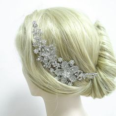 Vintage Inspired Bridal Bow Flower Hair Comb by Voguejewelry4u, $16.99