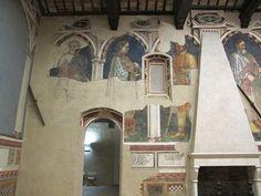 Gentile da Fabriano e bottega - Sala dei Giganti (o degli Imperatori) - ciclo di affreschi frammentario - 1411-1412 - Palazzo Trinci a Foligno