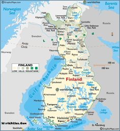 Finland large color map Finland Map, Places To Travel, Places To Go, Baltic Sea, Helsinki, Norway, Sweden, Places Ive Been, Maps