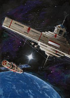 Vincent Di Fate 70s Sci-Fi Art