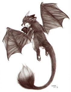 dragon fox by Liedeke.deviantart.com on @DeviantArt