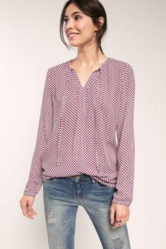 Esprit / Oversized blouse met koordjes