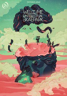 'Welcome to the intellectual skatepark' by Patryk Hardziej // for: Odysseus Arm Agency