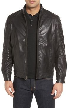 Missani Le Collezioni Leather & Wool Reversible Jacket available at #Nordstrom