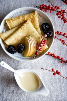 Cozy up with these Eggnog Crepes.