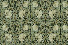 William Morris ~ Pimpernel ~ Original on Black fabric by peacoquettedesigns on Spoonflower - custom fabric
