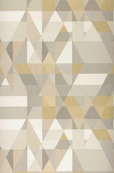 Zewana | Papel de parede geométrico | Padrões de papel de parede | Papel de parede dos anos 70