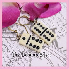 Darling Domino Effect Earrings , Steamp Punk, Hipster,By: Tranquilityy