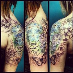 Forget Me Not Flower Tattoo Designs | forget me not tattoo | Forget me not...more - Anastasia Proudnikova ...