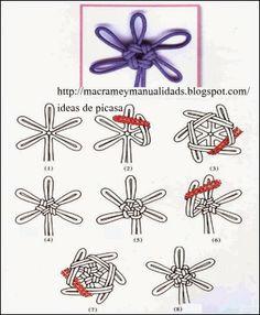 Paracord Braids, Paracord Knots, Rope Crafts, Easy Diy Crafts, Survival Knots, Decorative Knots, Rope Art, Macrame Tutorial, Knitting Yarn