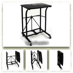 Portable Laptop Table Desk Folding PC Rolling Trolley Notebook Foldable Stand  #SpecialDeals4U #Modern
