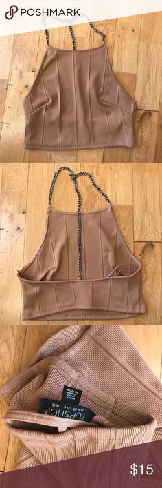 Topshop Chain Crop Top 6 Size 6, like new Topshop Tops