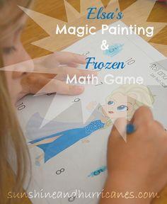 Elsa's Magic Painting & Frozen Math Game
