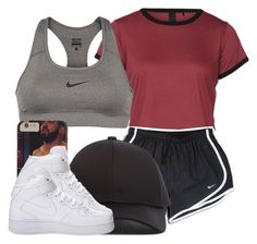 """Anyone else workout daily?"" by ariangrant ❤ liked on Polyvore featuring NIKE and Acne Studios"