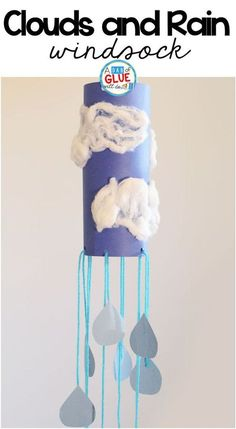 Rain Cloud Windsock Weather Craft is a great addition to your weather science unit this spring. This art activity is perfect for preschool and elementary