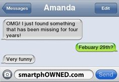 AmandaOMG! I just found something that has been missing for four years! | Febuary 29th? | Very funny