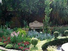 Garden Chairs, Garden Furniture, Cedar Garden, Timeless Beauty, Botanical Gardens, Garden Landscaping, Pond, Garden Design, Swimming Pools