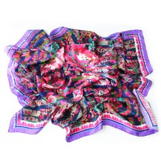 Shop for women's designer scarves at Wolf & Badger. Add a pop of color to your outfit with one of our brilliant independent designers' scarves. Designer Scarves, Neck Scarves, Womens Scarves, Designing Women, Color Pop, Silk, Badger, Hats, 3d